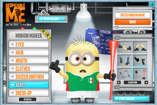 creat your own minion from despicable me nerd reactor