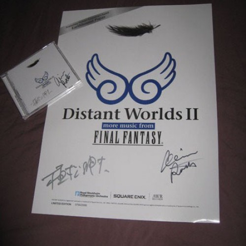 Nobuo Uematsu Signed Distant Worlds II Final Fantasy Giveaway!