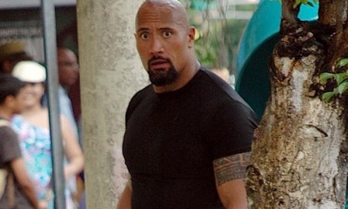 Fast Five Set Pics of The Rock