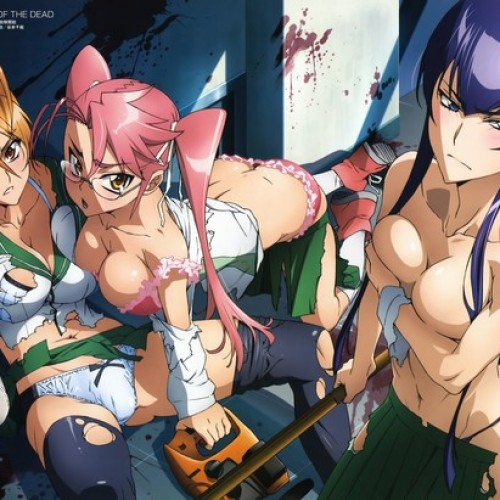 High School of the Dead Review: Zombies and Fanservice Galore