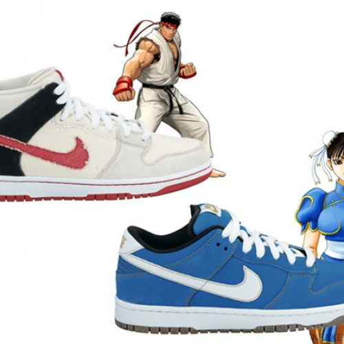 Extremely Underwhelming Street Fighter Nike SB Dunks