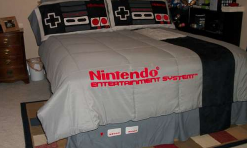 Sleeping 8-Bit Style with the Nintendo Bed