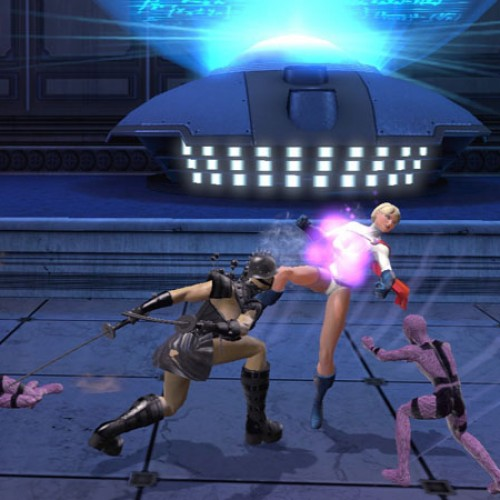 New DC Universe Online Screens Features Bat Cave and Power Girl Getting a Beatdown