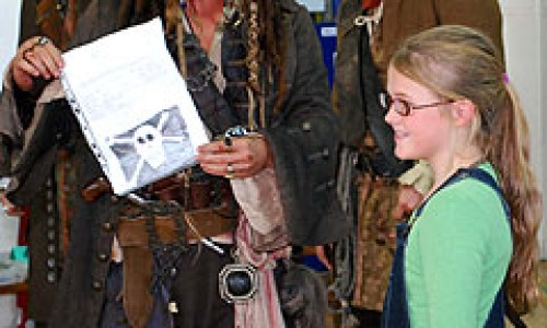 Captain Jack Sparrow Pulls a Surprise Visit on a School Full of Fans