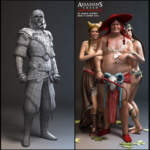 Detailed Renders and Models for Assassin's Creed: Brotherhood: NSFW