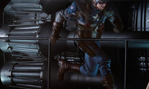 Captain America Runs in Hi-Res Photos