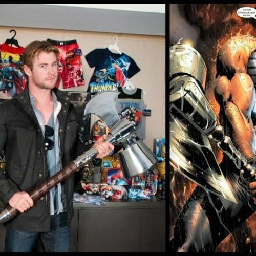 Chris Hemsworth AKA Thor Visits Marvel Office