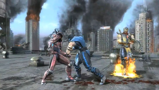 sub zero vs scorpion fatality. (Sub-Zero and Scorpion)