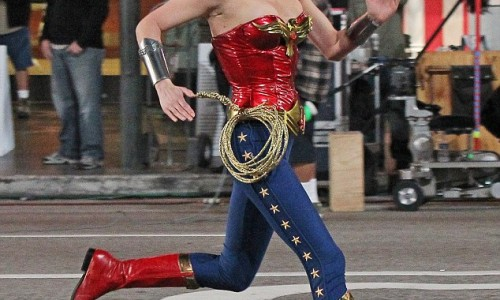 Mega Collection of Photos and Videos of Adrianne Palicki on the Wonder Woman Set