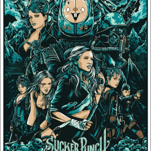 Artsy 'Sucker Punch' Posters with the Babes and a Scary Mech Bunny