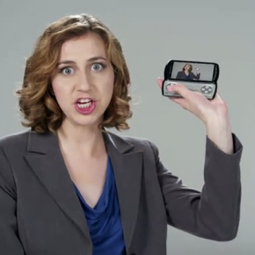 "Daily Show's Kristen Schaal ""Blows S@$# Up!"" with the New PSP Phone"