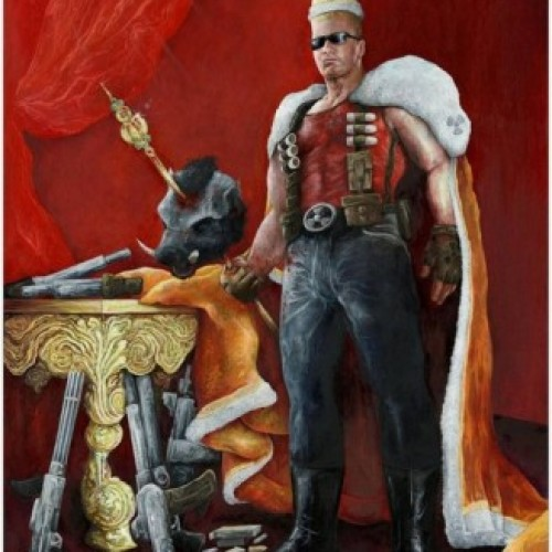 Duke Nukem Royal Portrait for Charity Auction