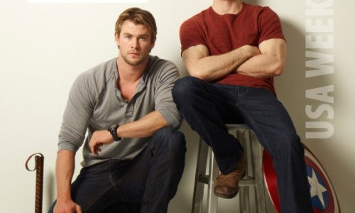 Thor's Chris Hemsworth and Captain America's Chris Evans on Comic Books and Fans