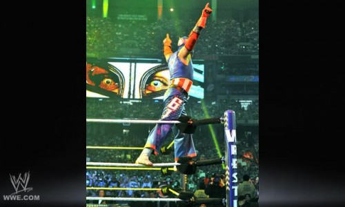 Rey Mysterio Channels Captain America at Wrestlemania 27