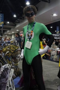 green lantern cosplay with unfortunate bulge