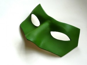 green lantern mask in leather