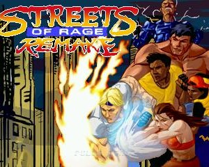 streets of rage remake title screen