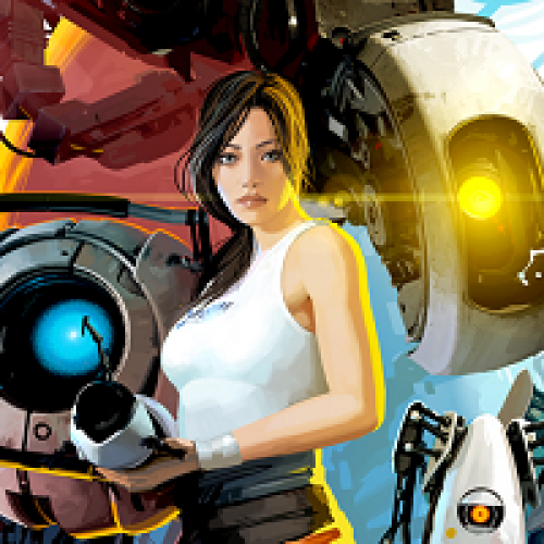 This Portal 2 Art Will Warp You to the 70's