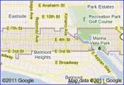 maps one box preview of long beach 90814