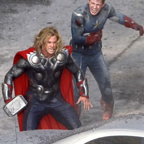 See Thor and Captain America Beat the Crap Out of Alien Stunt Guys