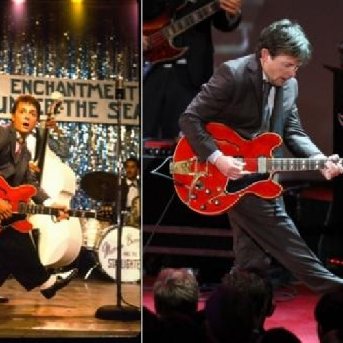 Footage of Michael J. Fox Playing Johnny B. Goode Live