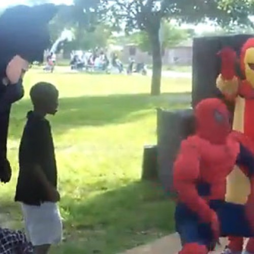 Get Ready to Be Disturbed! Spider-Man, Batman and Iron Man Get Down