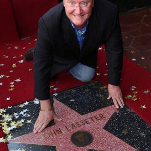 Pixar's John Lasseter Receives Hollywood Star