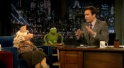 Muppets Jimmy Fallon Kermit the Frog Miss Piggy