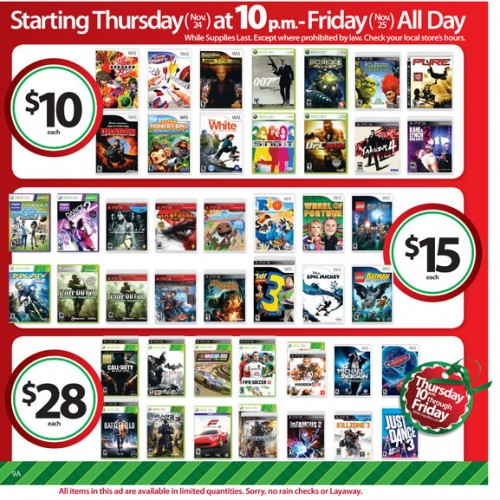 Black Friday: Get Batman: Arkham City or Battlefield 3 for $28 Each, Wii for $99