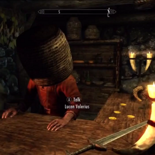 Skyrim Glitches and Basket-On-The-Head Hijinks