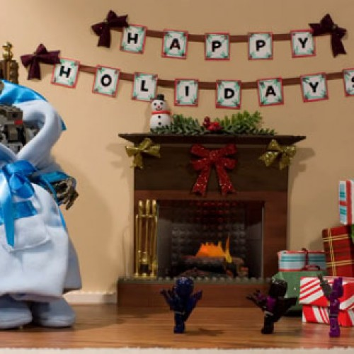 Even Megatron Gets Excited for Christmas