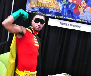 gay robin at the fan boys of the universe booth at bent-con 2011