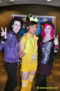 kent kaliber, vyxsin, and pigaychu at bent-con 2011 hallway
