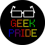 geek pride, rainbow lettering for queeks