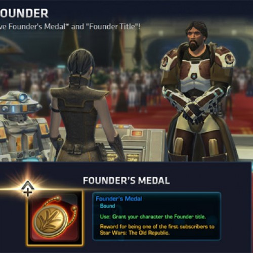 Star Wars: The Old Republic Exclusive Founder's Medal & Title