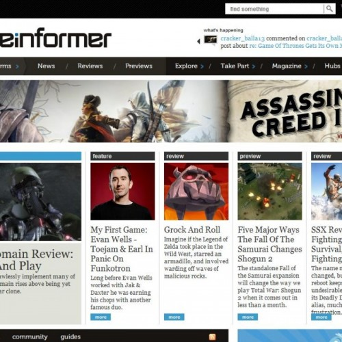 Game Informer's Assassin's Creed III hub cover accidentally exposed?