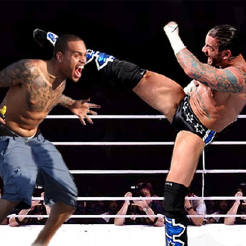 WWE Champion CM Punk calls out singer Chris Brown