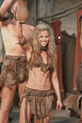 Ellen Hollman as Saxa in Spartacus Vengeance