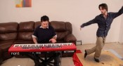 Mario theme piano tap dancing