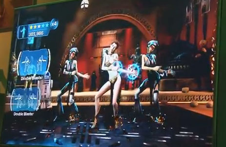 Star Wars Kinect Slave Leia Dance What's Dance Central doing in my Star Wars game?