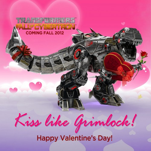 Grimlock from Transformers: Fall of Cybertron has a Valentine's Day card for you