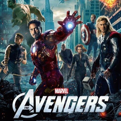 This official Avengers poster has Iron Man front and center