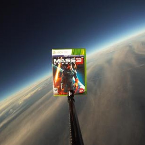 Find the weather balloon, play Mass Effect 3 early