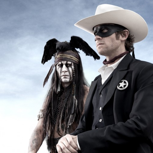 First look at The Lone Ranger and Captain Jack Sparrow…I mean Tonto