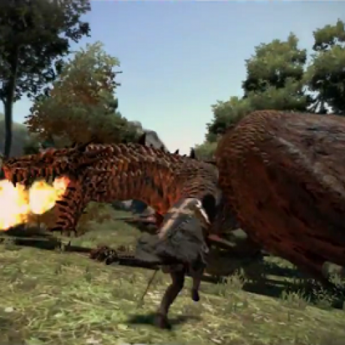 Dragon's Dogma video contains intense, brutal drake confrontations