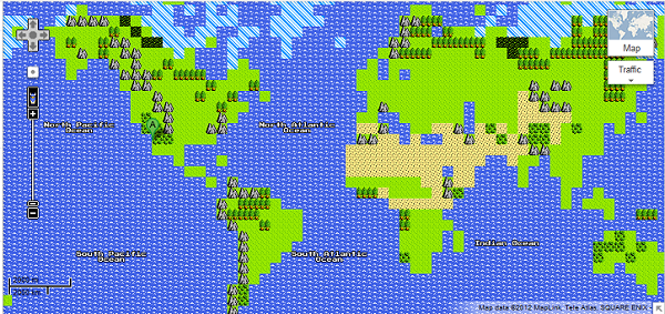 Google's April Fools' Day Prank Is A Dragon Warrior Nes Map Nerd: Dragon Warrior Map At Infoasik.co