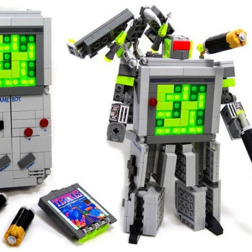 Fan-Made Lego Game Boy Transformer