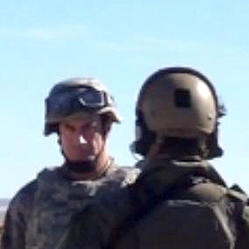 On-set photo of Man of Steel's Christopher Meloni as Colonel Hardy