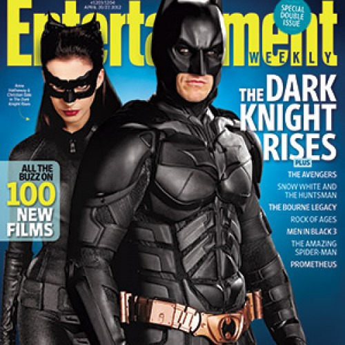 Catwoman and Batman on the cover of EW