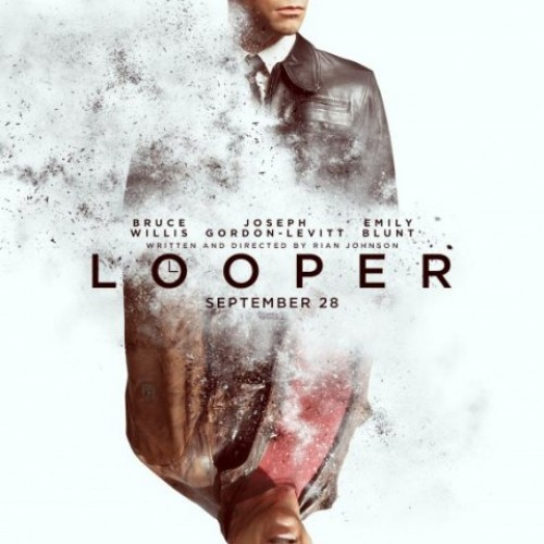 Joseph Gordon-Levitt is Bruce Willis in the Looper poster